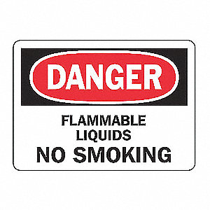 SAFETY SIGN FLAMMABLE LIQUID VINL