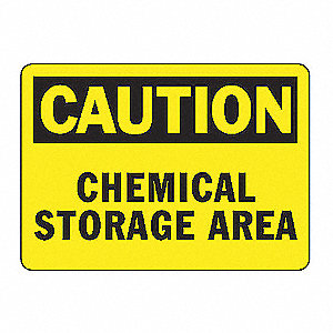 SAFETY SIGN CHEMICAL STORAGE VINL