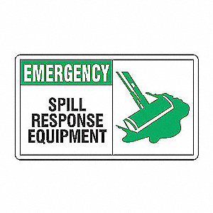 SAFETY SIGN EMERG SPILL RESP VIN