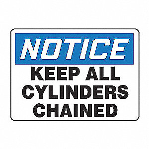 SAFETY SIGN KEEP ALL CYLINDERS PL