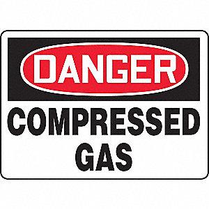 SAFETY SIGN COMPRESSED GAS PLAS
