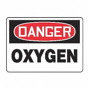 SAFETY SIGN OXYGEN PLASTIC