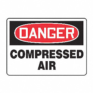 SAFETY SIGN COMPRESSED AIR VINYL