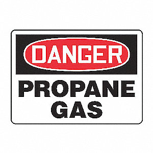 SAFETY SIGN PROPANE GAS PLASTIC