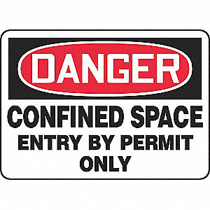 SAFETY SIGN CONFINED SPACE ALUM
