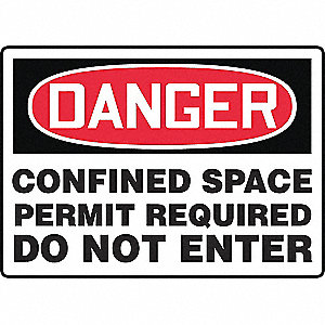 SAFETY SIGN CONFINED SPACE VINYL