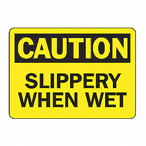 SAFETY SIGN SLIPPERY WHEN WET VIN