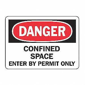 SAFETY SIGN CONFINED SPACE PLAST