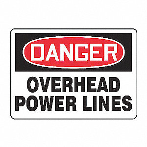 SAFETY SIGN OVERHEAD POWER PLAS