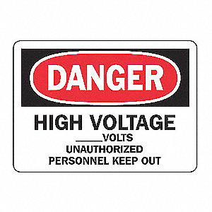 SAFETY SIGN HIGH VOLTAGE VINYL