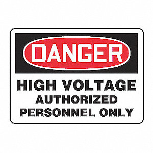 SAFETY SIGN HIGH VOLTAGE VINYL