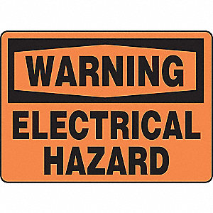 SAFETY SIGN ELECTRICAL HAZARD VIN