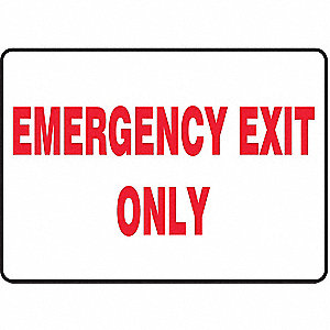 SAFETY SIGN EMERGENCY EXIT PLAST