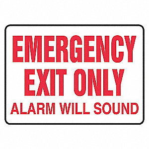 SAFETY SIGN EMERGENCY EXIT VINYL