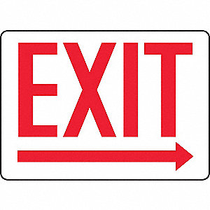 SAFETY SIGN EXIT WITH ARROW PLAS