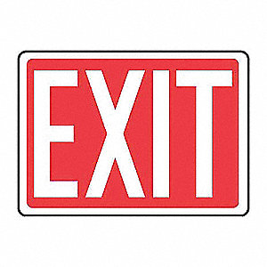 SAFETY SIGN EXIT PLASTIC