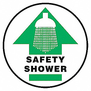 SAFETY SHOWER FLOOR SIGN 8 DIA