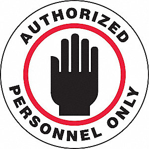 FLR SIGN AUTH PERSON 8 DIA