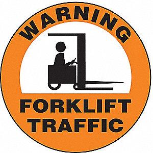 SIGN WARNING FORKLIFT 8 DIA