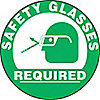 FLOOR SIGN SAFETY GLASSES REQUIRED