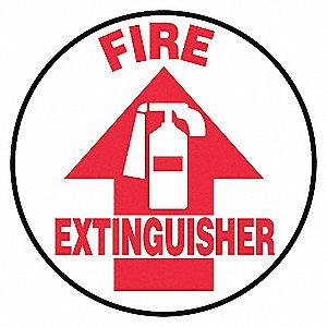 FLR SIGN FIRE EXTGSHER 3 DIA