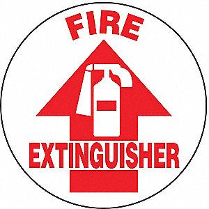 SG FLR SIGN FIRE EXT GLOW 17 DIA