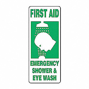 SAFETY SIGN FIRST AID SHOWER PLAS
