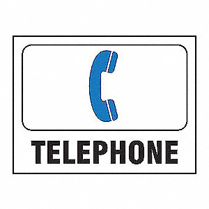 SIGN TELEPHONE 7IN X 10IN ALUM