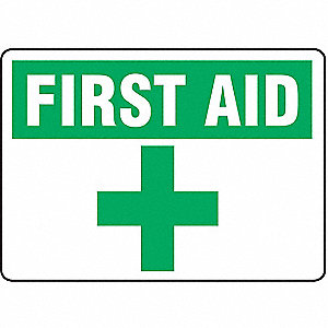 SAFETY SIGN FIRST AID PLASTIC