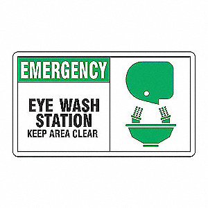 SAFETY SIGN EMERGENCY EYE WASH PL