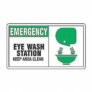 SAFETY SIGN EMERGENCY EYE WASH VI
