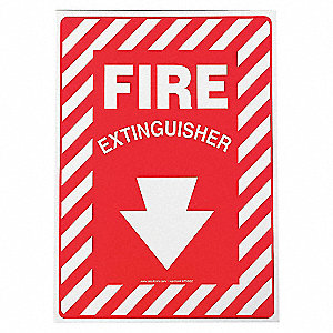SAFETY SIGN FIRE EXTINGUISHER ALM