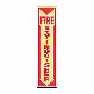 SAFETY SIGNFIRE EXTINGLOW PLAST