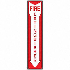 SAFETY SIGNFIRE EXTINGLOW VINYL