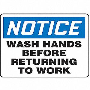 SAFETY SIGN WASH HANDS VINYL