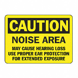 SAFETY SIGN NOISE AREA VINYL