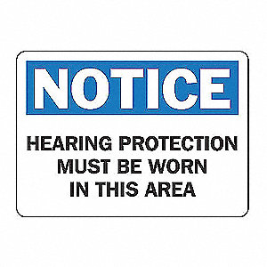 SAFETY SIGN HEARING PROTECT 10X14