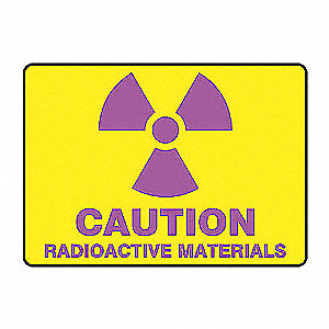SAFETY SIGN RADIOACTIVE MAT VINYL