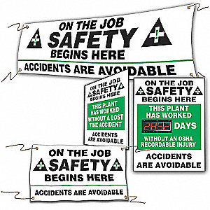 SIGN ON THE JOB SAFETY BEGINS HERE