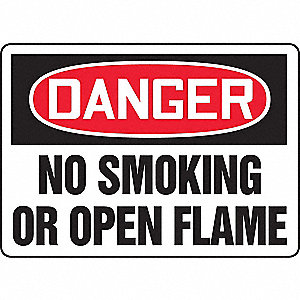 SAFETY SIGN NO SMOKING FLAMES VIN