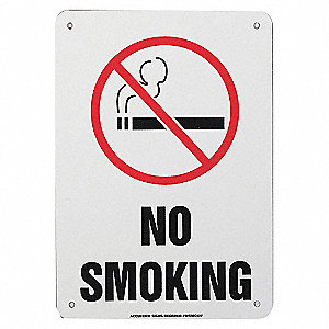 SAFETY SIGN NO SMOKING ALUMINUM