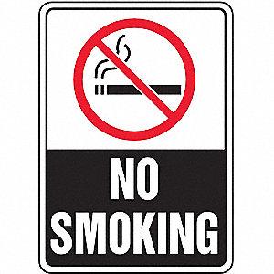 SAFETY SIGN NO SMOKING PLASTIC