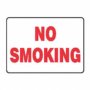 SAFETY SIGN NO SMOKING VINYL