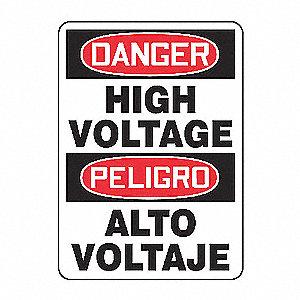SAFETY SIGN HIGH VOLTAGE BIL PLAS