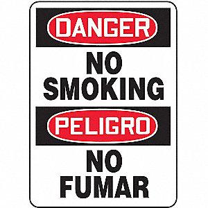 SAFETY SIGN NO SMOKING BIL PLAST