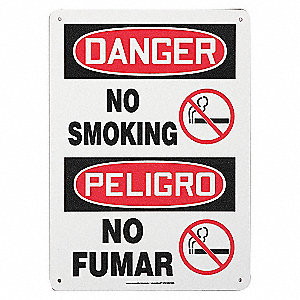 SAFETY SIGN NO SMOKING BIL PLAST