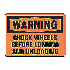 SAFETY SIGN CHOCK WHEELS PLASTIC
