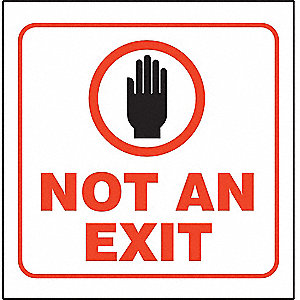 3D PROJ SIGN NOT AN EXIT