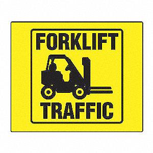 PROJ SIGN 90D 8X8 PNL FORKLIFT TRFC