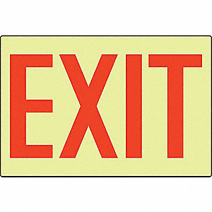 3D PROJ SIGN EXIT SIGN RED/GIDK
